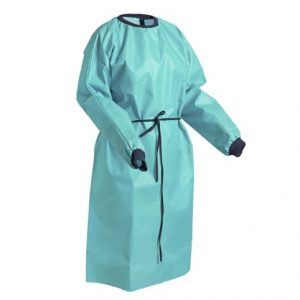 Reusable waterproof surgical gown
